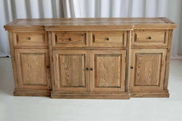 French style American Oak Parquetry Sideboard