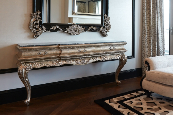 French Style cabriole Leg Console Table
