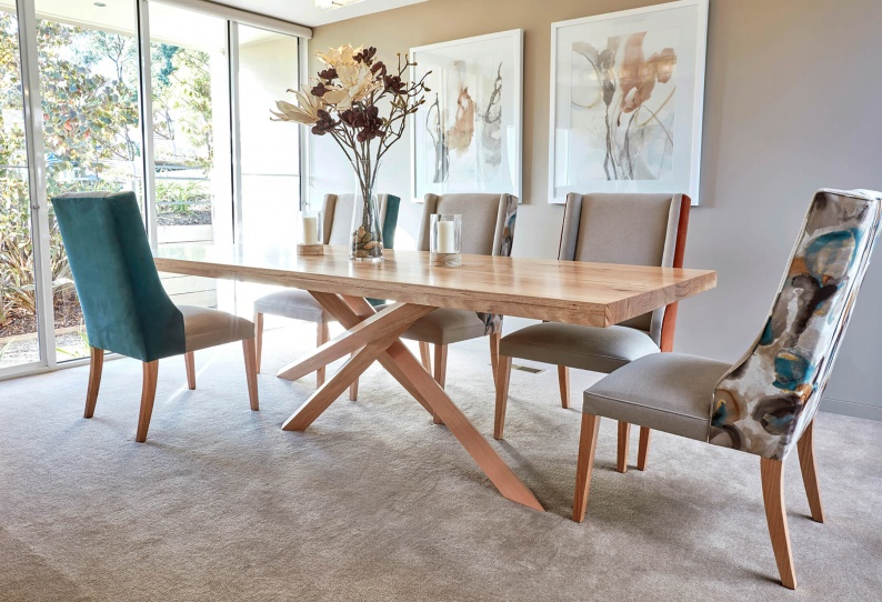 French style contemporary oak dining table