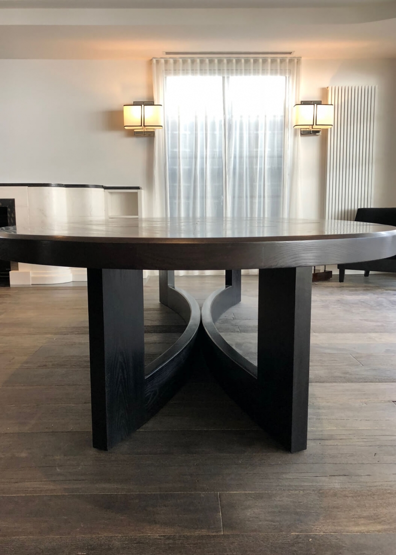 French style contemporary round dining table