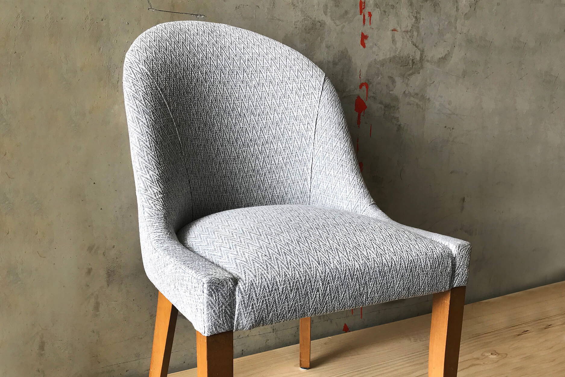French style curved back dining chair