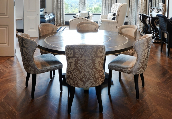 French style curved shaped dining chairs