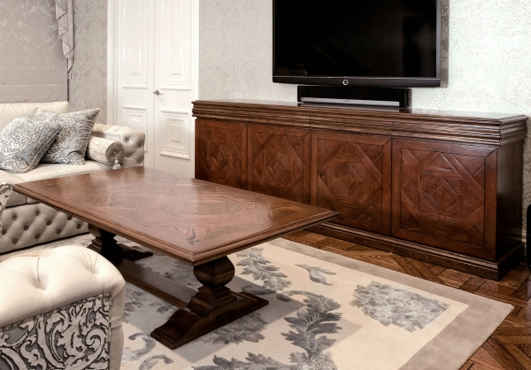 French Style Custom Designed Parquetry Sideboard