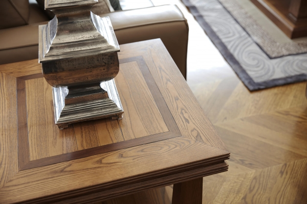French style custom made oak side tables