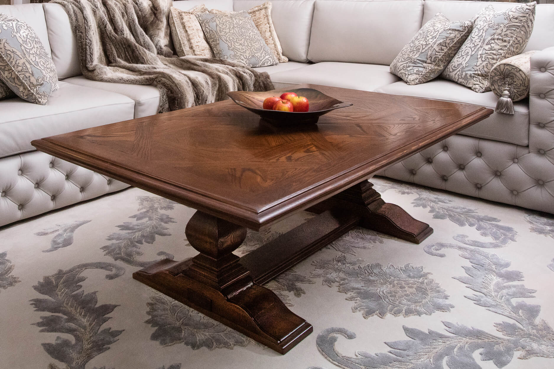 French style parquetry coffee Table