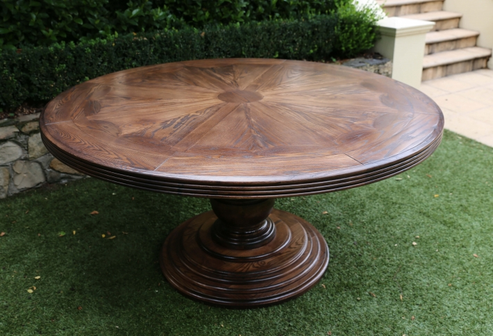 French style Round Parquetry Table