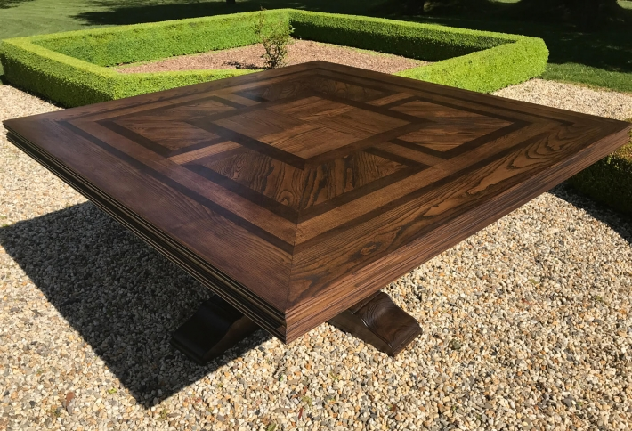 French style Square Parquetry Table