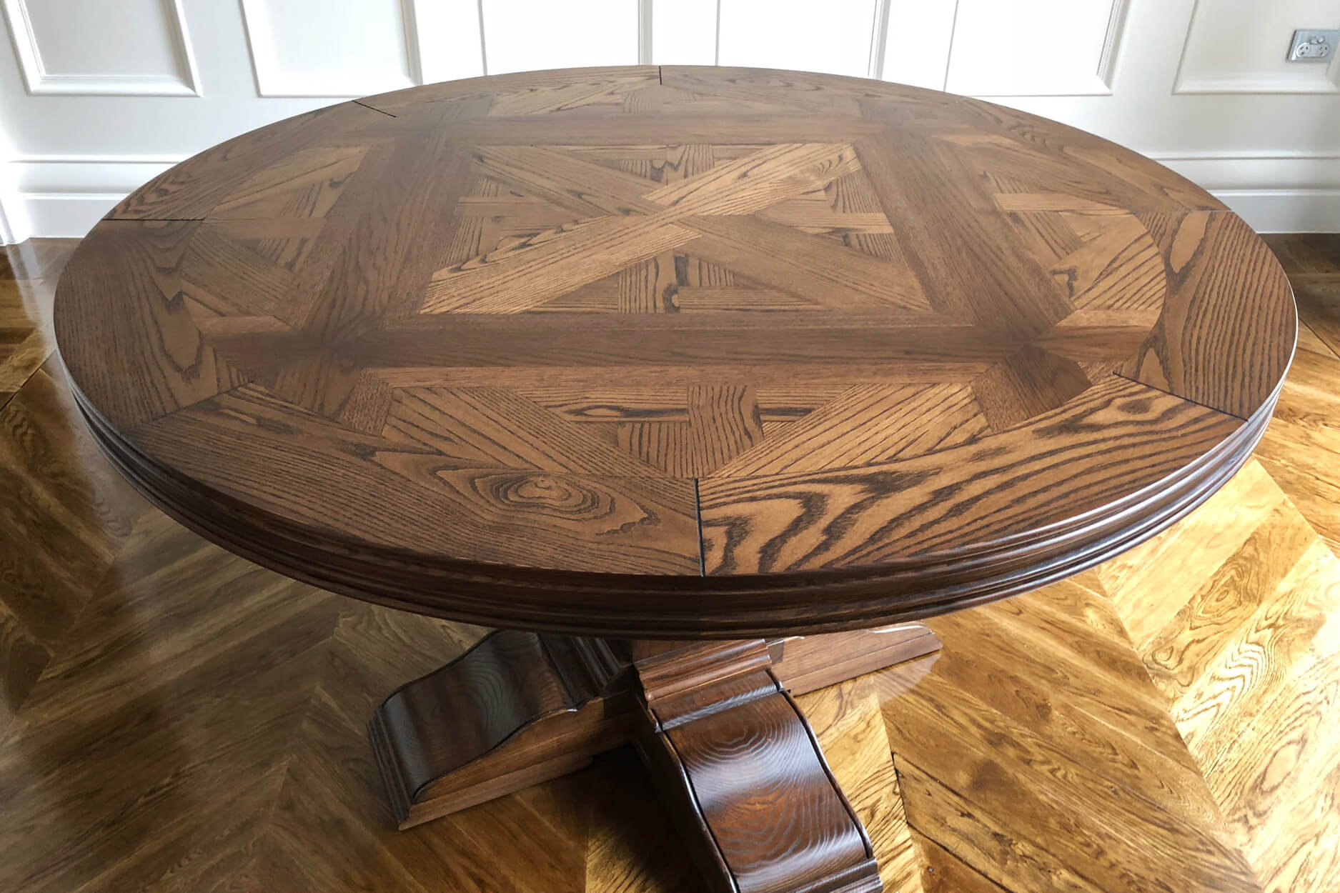 Australian Made Large Round Parquetry Table