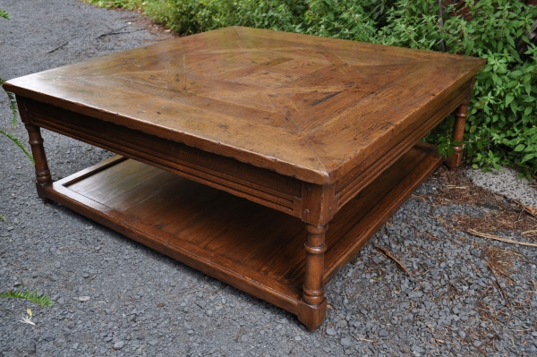 French LXVI Style Parquetry Coffee Table