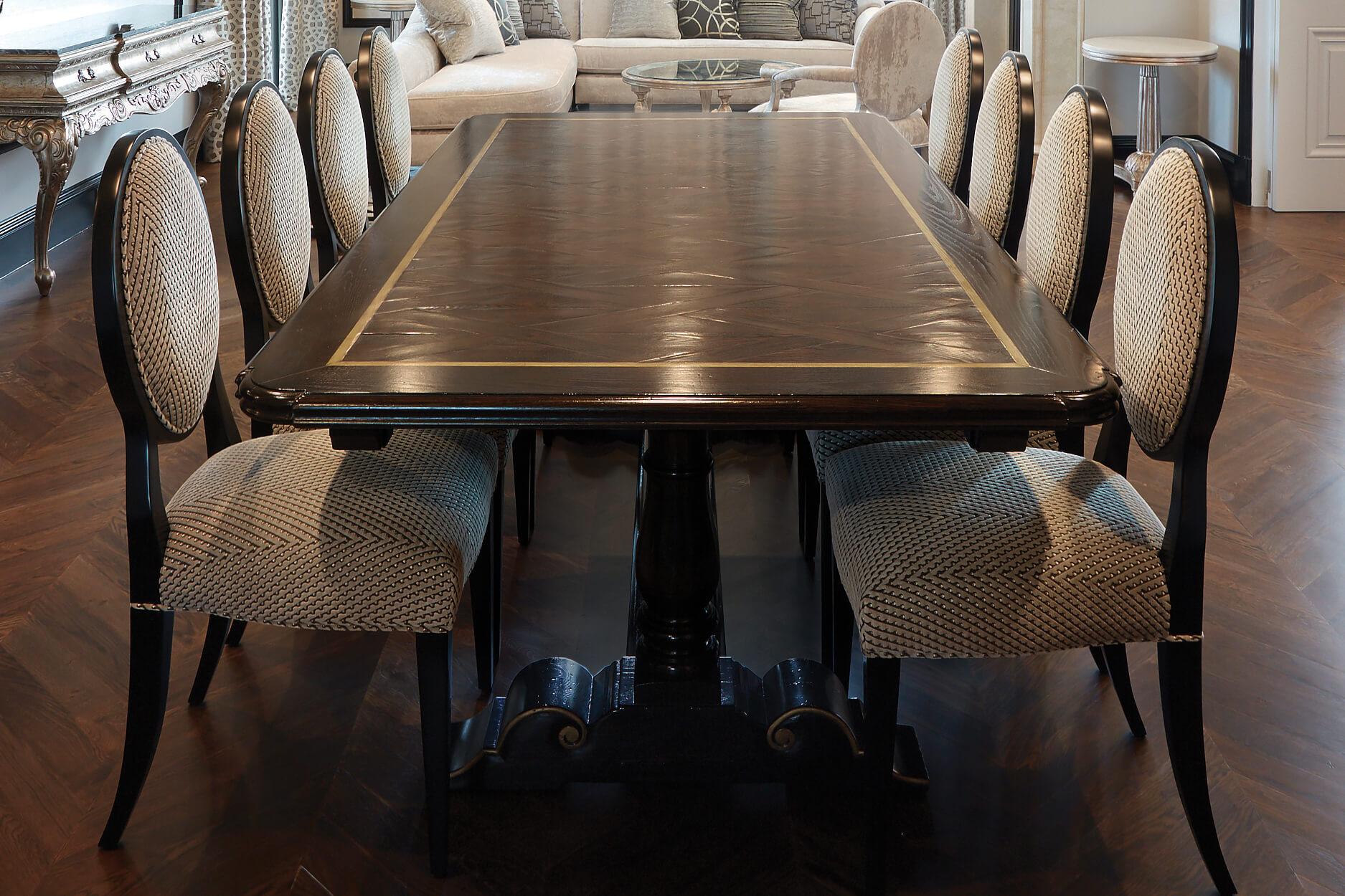 Luxury European Style Parquetry Table