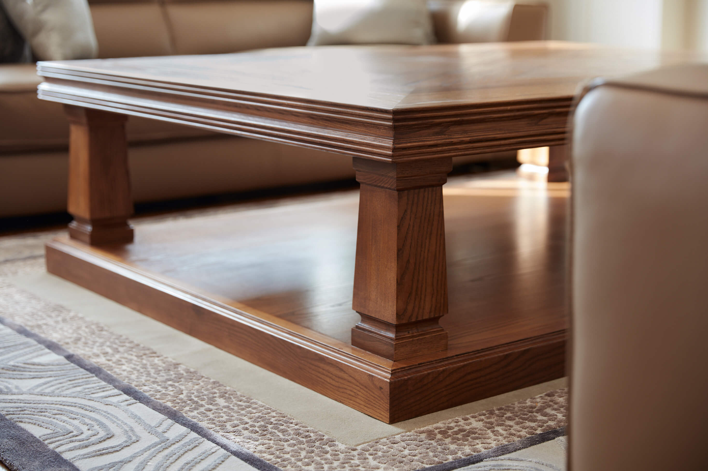French style handcrafted Parquetry Table