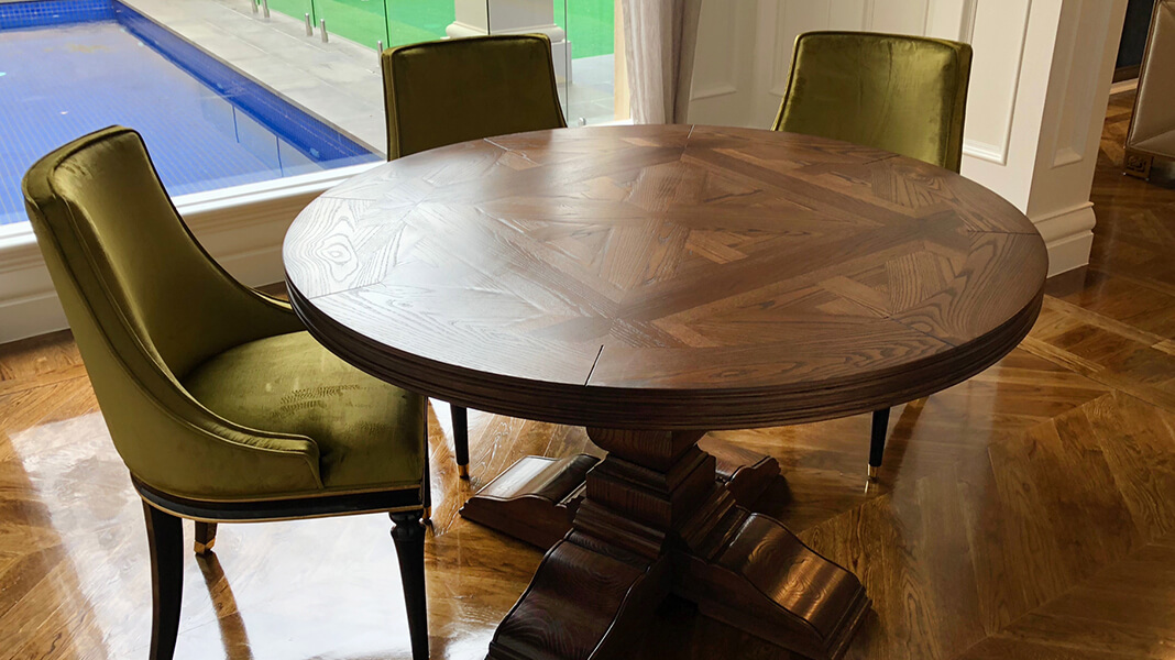 Custom Made French Dining Tables, Pedestal Dining Tables