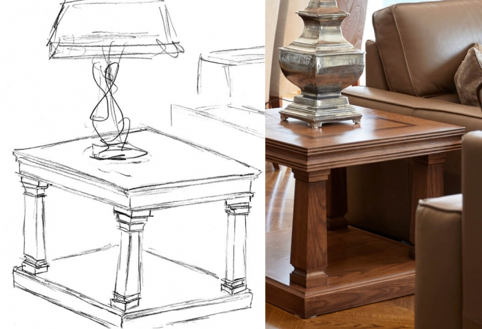French style table design