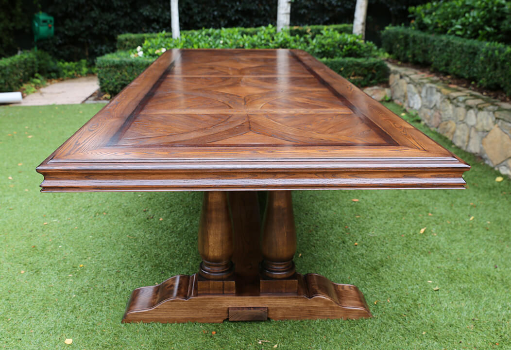 French style table polishing
