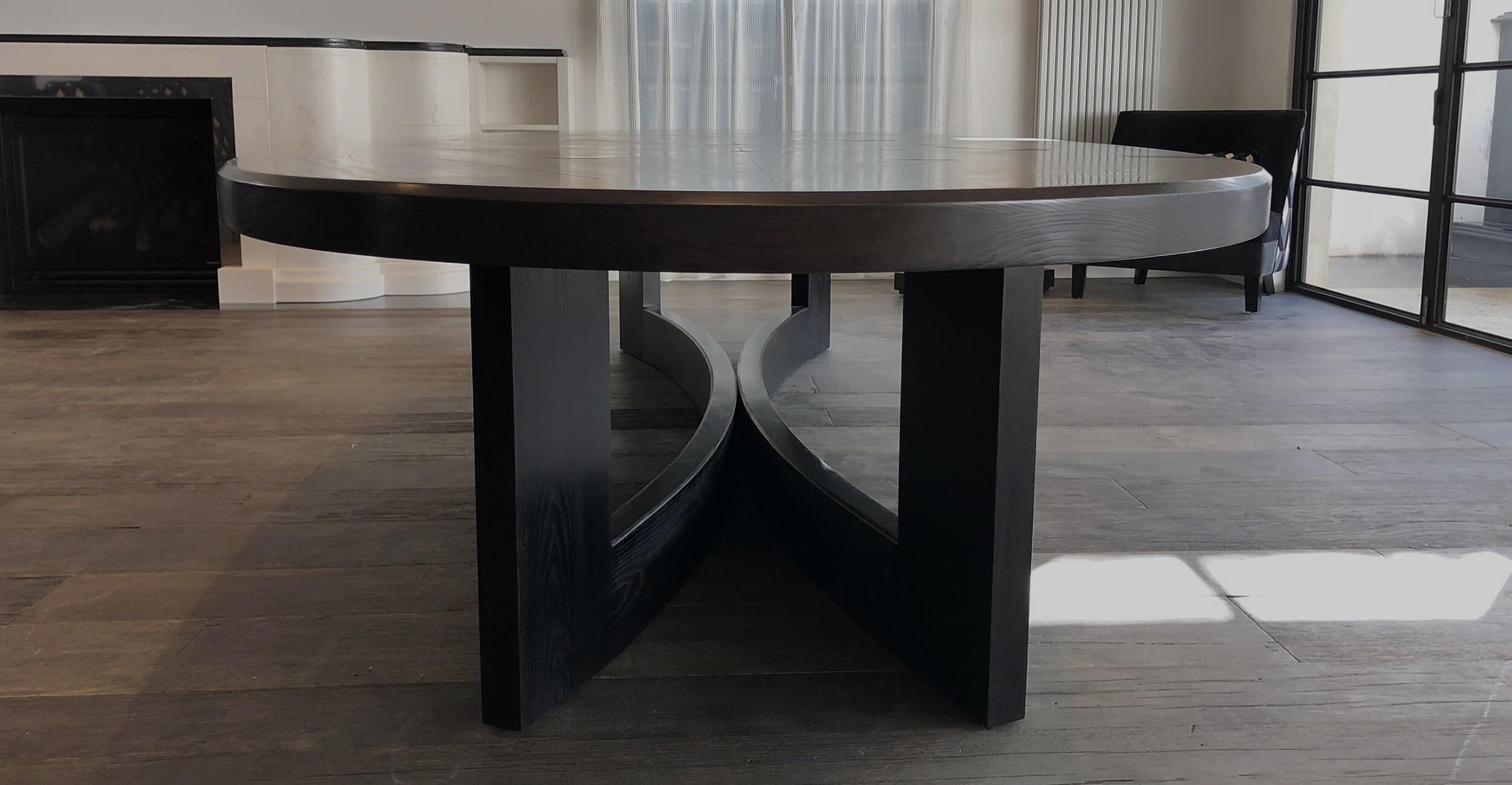 Modern and Contemporary style French parquetry table