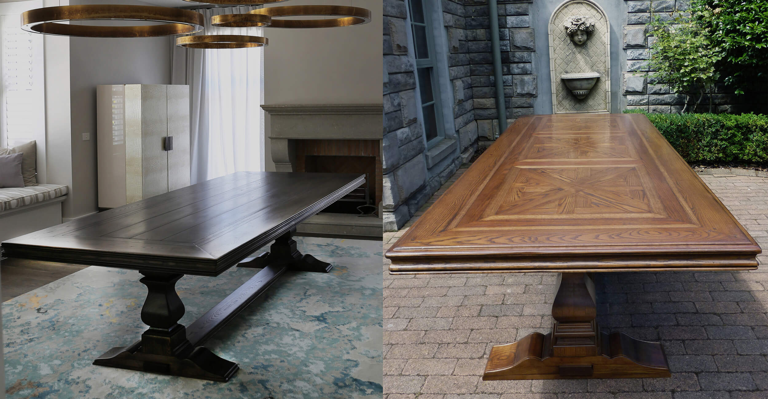 Solid Oak Parquetry Table