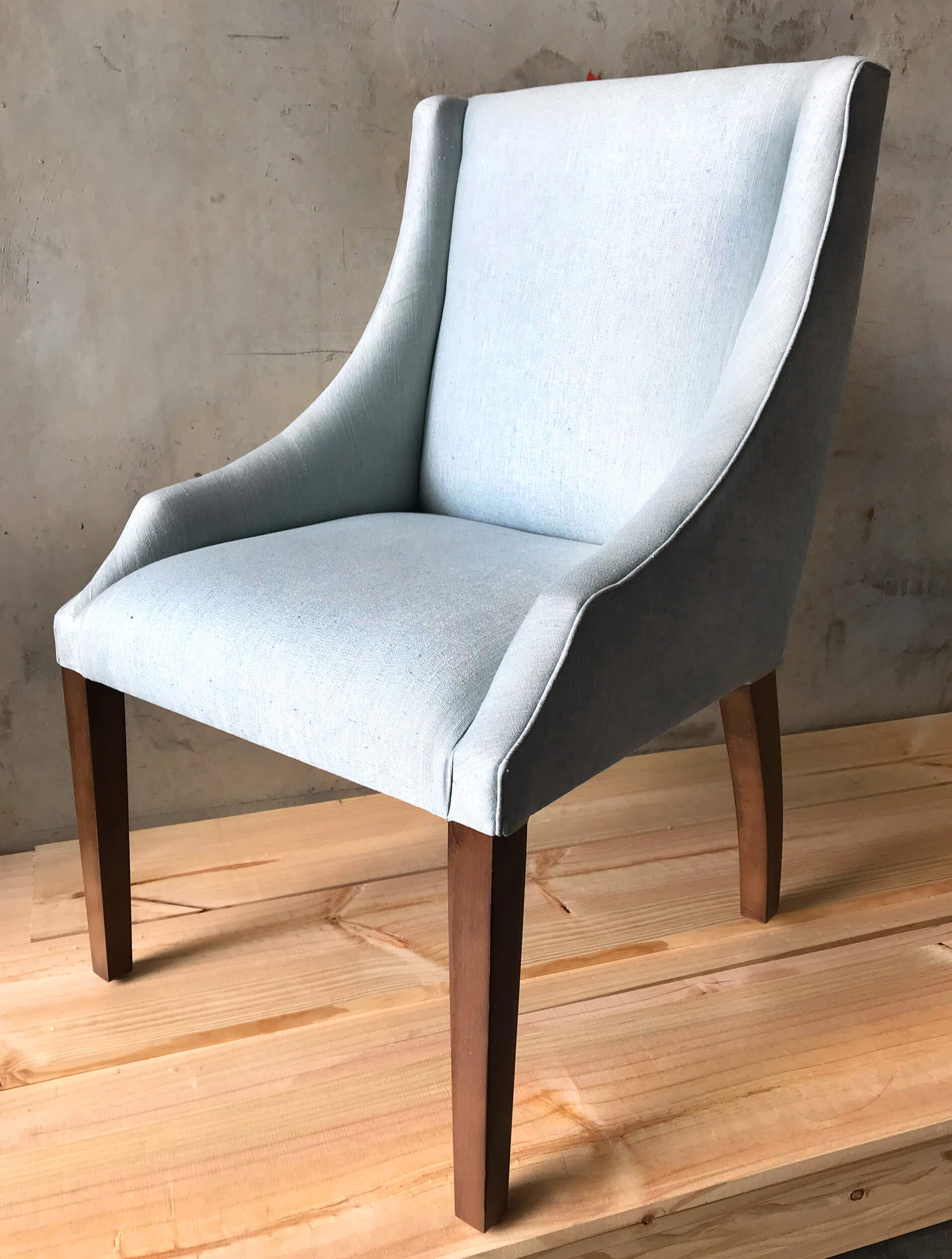 Curved Arm Dining Chair With Optional Ring Detail | French ...